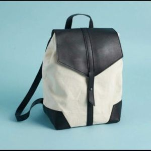 Duex Lux Boho Pleather and Cloth backpack